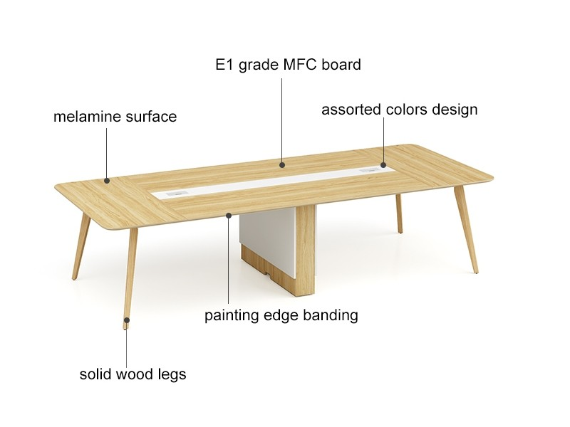 Modern Design 10 Seater Conference Table, made of melamine board (YM-02C3214)