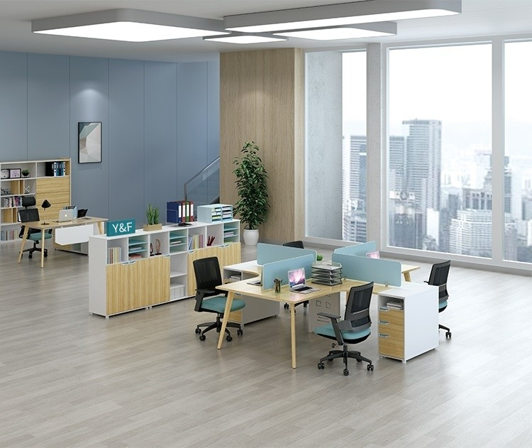 YM-06W# 4-person Office Workstation