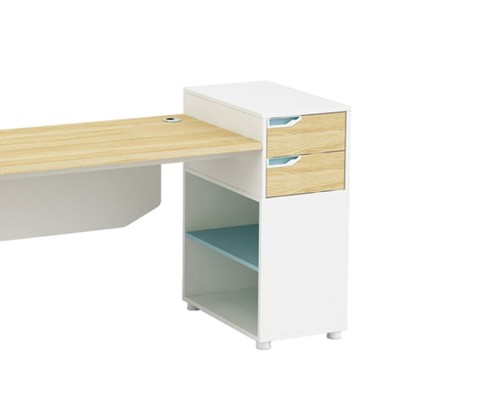 1-Person Office Screen Workstation Office Desk With File Cabinet ( YM-01W1506)