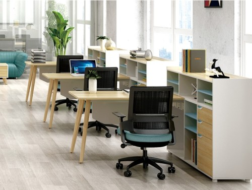 1-Person Office Workstation Office Desk With File Cabinet ( YM-03W1614)