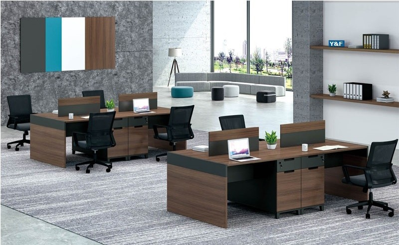 KT-02W 4-person Office Workstation