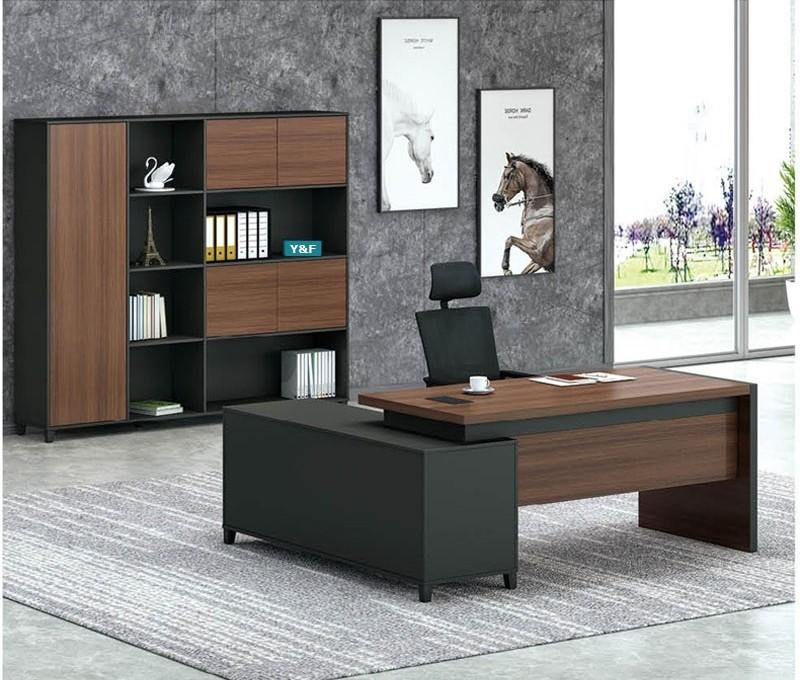 Modern Design L Shaped Executive Office Desk(KT-07T1616)
