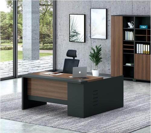 Modern Design L Shaped Executive Office Desk, Made of MFC(KT-08T1616)