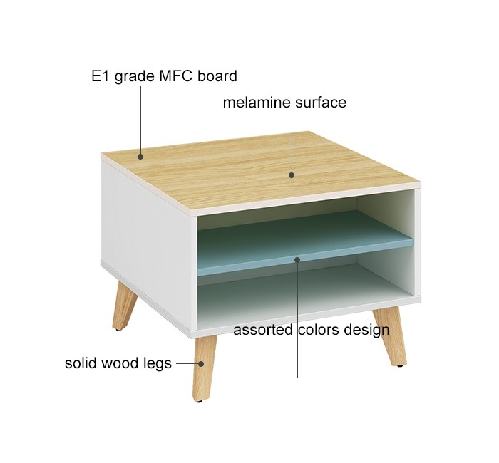 Wholesale small square corner coffee table(YM-01F606)