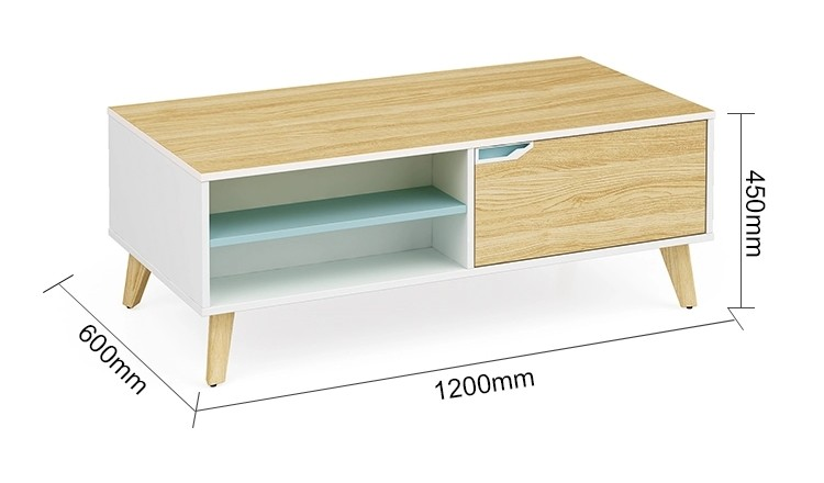 Wholesale sofa center coffee table with one drawer  (YM-01F1206)