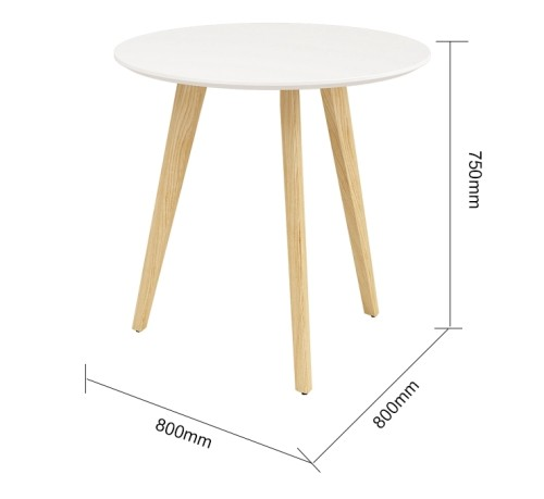 Wholesale round coffee table negotiation table with solid wood legs(YM-02Q808)