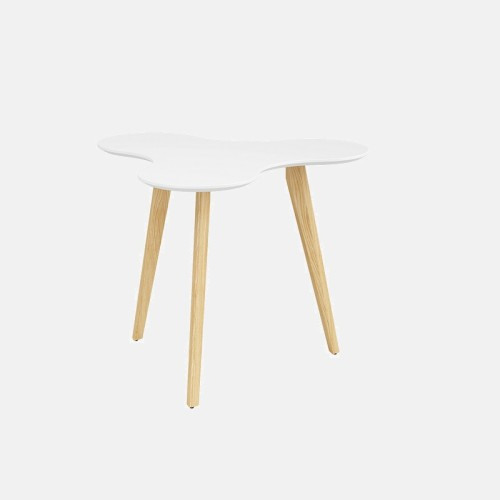 Wholesale round coffee table negotiation table with solid wood legs(YM-03Q111)