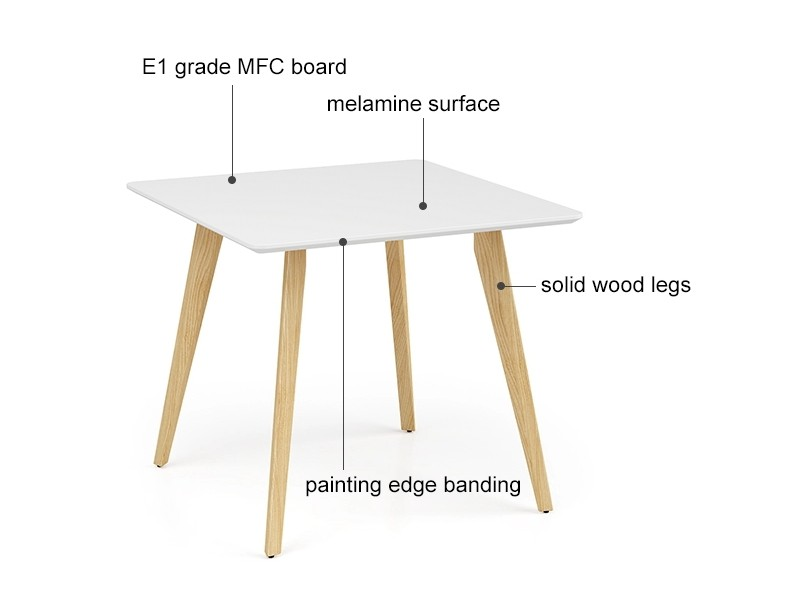 Wholesale white sofa arm table with solid wood legs(YM-01Q101)