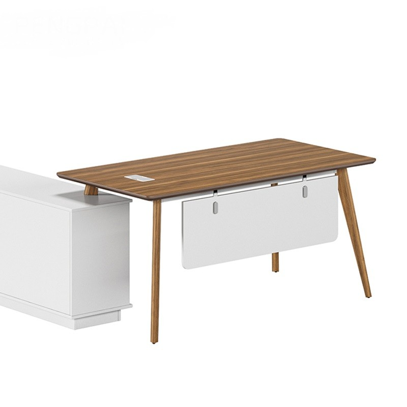 Modern Design L Shaped Executive Office Desk, Made of MDF(DS-03T1616)