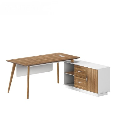 Modern Design L Shaped Executive Office Desk, Made of MFC(DS-03T1616)