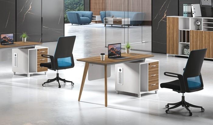 Modern Design L Shaped Executive Office Desk, Made of MDF(DS-03T1407)