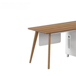 Modern Design L Shaped Executive Office Desk, Made of MFC(DS-03T1407)