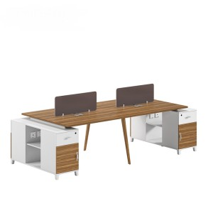 4-Person Office Screen Workstation Office Desk With File Cabinet(DS-02W2812)