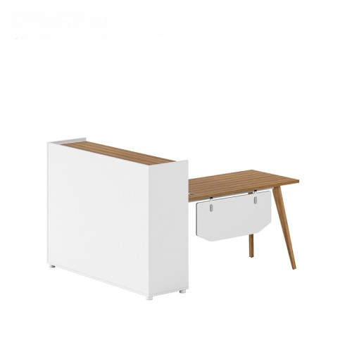 1-Person Office Workstation Office Desk With File Cabinet (DS-05W1614)