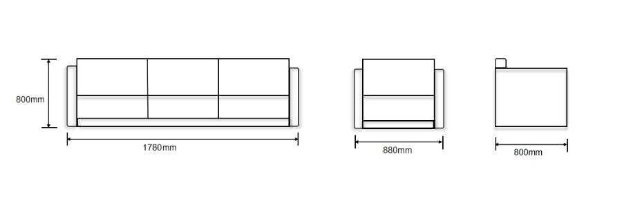 Modern Office Sofa, PU And Solid Wood Inner Frame(SF-L2193)