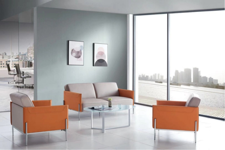 Wholesale Modern Office PU Sofa With Solid Wood Inner Frame(SF-L2191)