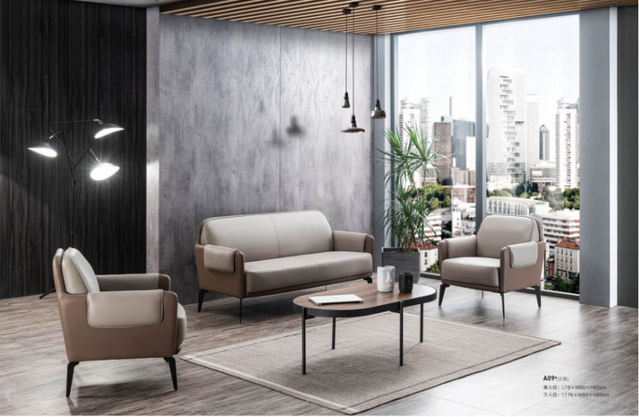 Wholesale Modern Office PU Sofa With Solid Wood Inner Frame(SF-A09)