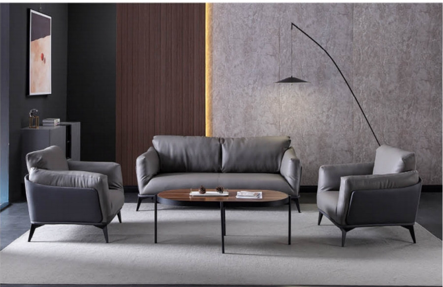 Wholesale Modern Office PU Sofa With Solid Wood Inner Frame(SF-B37)