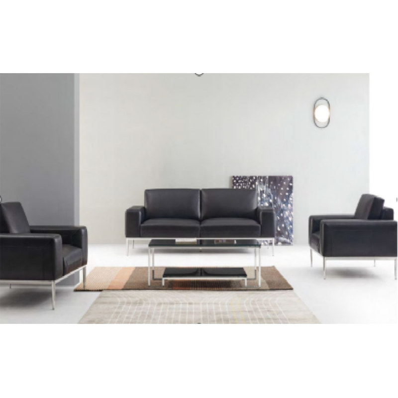 Wholesale Modern PU Office Sofa With Solid Wood Inner Frame(YF-18013)
