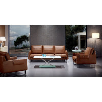 Wholesale Modern Leather Office Sofa With Solid Wood Inner Frame(S-8650)