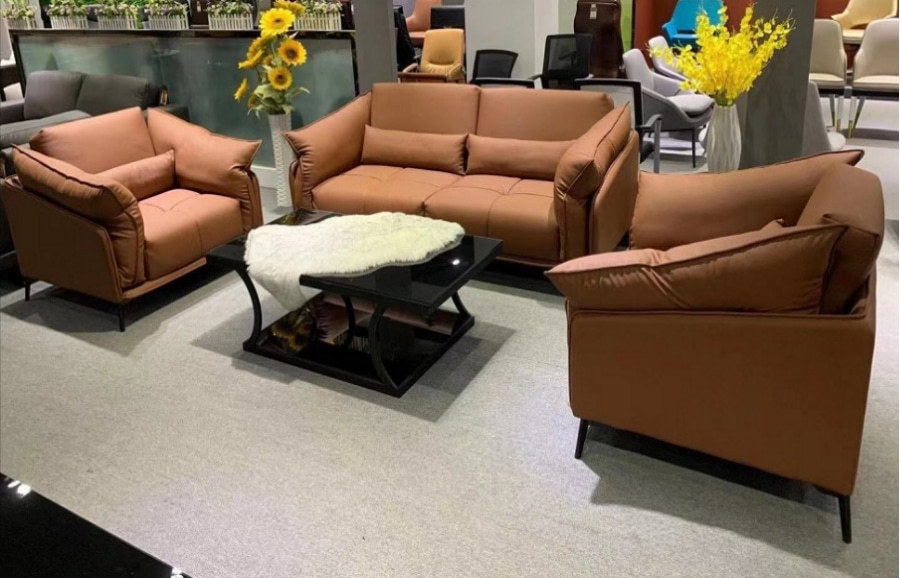 Wholesale Modern PU Office Sofa With Solid Wood Inner Frame(YF-2190)