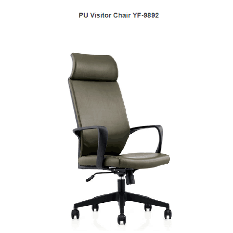PU Leather Office Swivel Chair with headrest and armrest,produced by YingFung Furniture.(YF-9892)