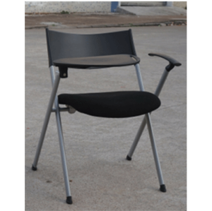 Black Foldable Training Chair with Writing Tablet (YF-Y2-D)