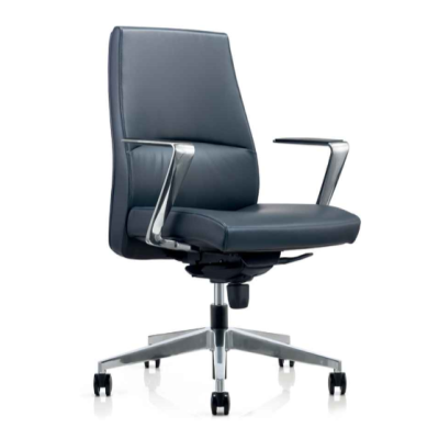 Adjustable Height Leather Swivel Office Chair with Armrest and Castor Base(YF-622-099)