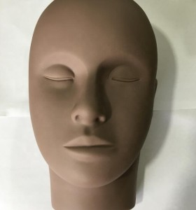 Training Mannequin Flat Head Practice Make Up Model Eyelash Extensions Closed Eyes lash Mannequin