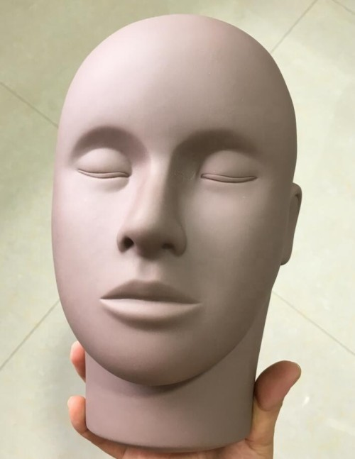Training Mannequin Flat Head Practice Make Up Model Eyelash Extensions Closed Eyes lash Mannequin