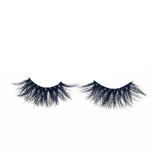 qingdao Veteran best 25mm 3d mixed mink eyelashes cruelty free with mink eyelash custom packaging