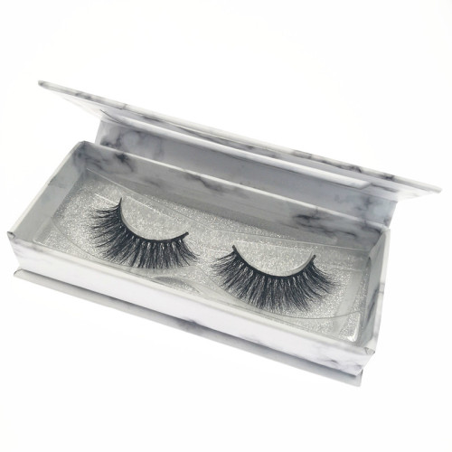 Veteran siberian long mink eyelash strips with eyelash packaging custom