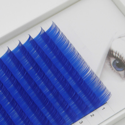 Veteran sky color  eyelash extension with wholesale custom lash packaging