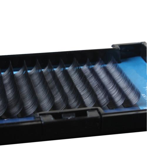 Veteran synthetic mink false flat eyelashes extension trays with plastic box