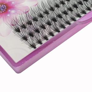 Veteran false eyelashes 20d individual extension tray high quality with custom eyelash package