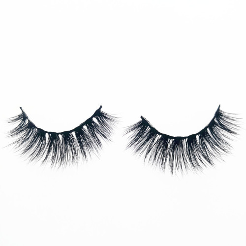 Veteran clear band mink false eyelashes 3d private label with box