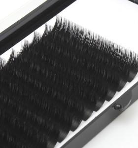 Veteran bulk silk l curl eyelash extension 8 15mm with packaging box custom logo private label