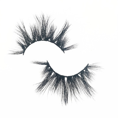 Qingdao Veteran wholesale 25mm 5d mink strip eyelashes private label with eyelash box round