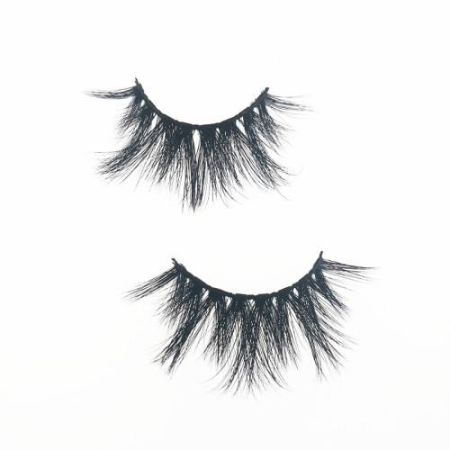 Qingdao Veteran wholesale 25mm 5d mink strip eyelashes private label with eyelash box round
