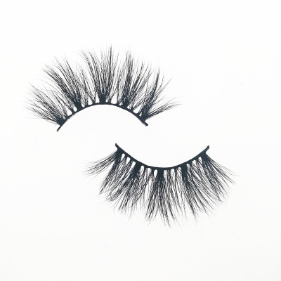 Qingdao Veteran hot selling 5d 25mm luxury mink fur eyelashes with clear band
