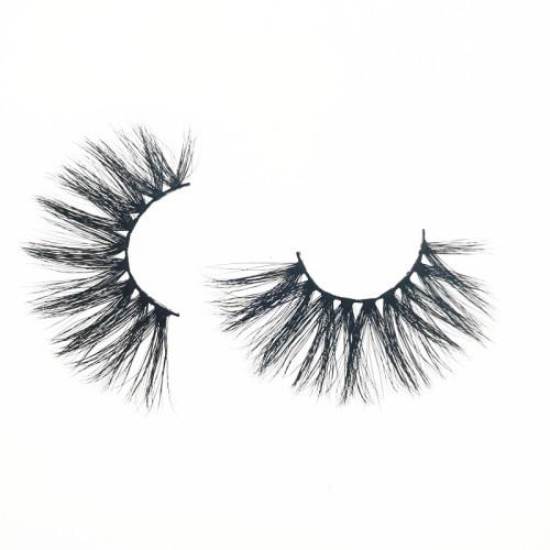 Qingdao Veteran luxury 3d mink fur eyelashes with eyelash packaging box custom