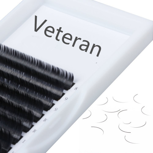 Veteran 0.07 8mm eyelash extensions c curl and d curl with clear box