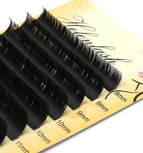 Veteran eyelash wholesale vendors silk mink 0.15 5d eyelash extensions with package box