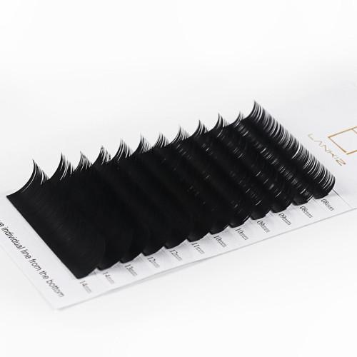 Veteran 0.15 7d silk mink eyelash extensions 13mm with custom logo package box