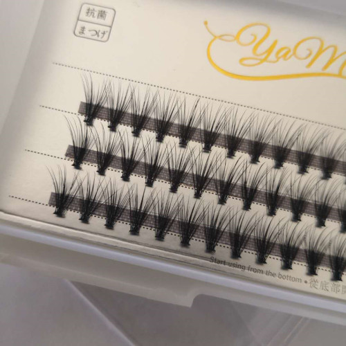 Veteran c curl 20d individuals eyelash extensions fan with customize packaging box