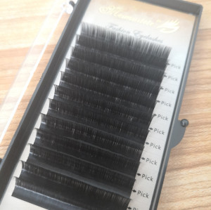 Veteran lash extension supplies b curl 20mm eyelash extensions with black box