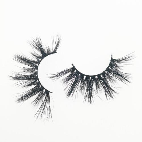 Qingdao Veteran own brand private label mink eyelashes wholesale lashes with eyelash packaging box