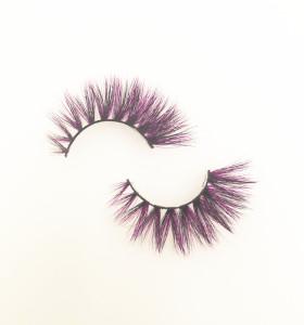 Veteran wholesale colorful siberian mink eyelashes 3d mink eyelashes with customize box