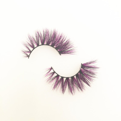 Veteran wholesale colorful siberian mink eyelashes 3d mink eyelashes with customize box