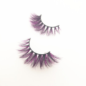 Purple lashes eyelashes mink private label eyelashes with false eyelashes packaging cardboard box